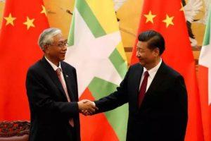 习近平会见缅甸总统吴廷觉——CGTN
